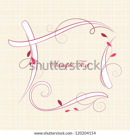Abstract floral frame. Element for design. - stock vector