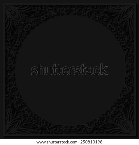 Abstract floral frame. Vector illustration - stock vector