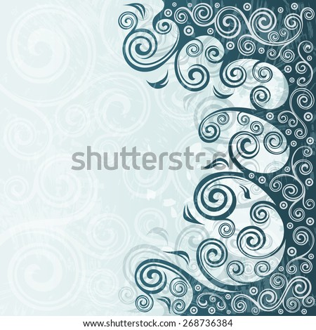 Abstract floral grunge background illustration.
