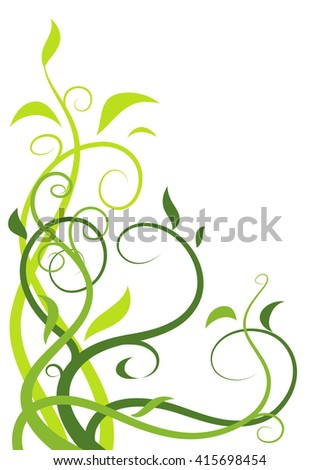 Abstract floral illustration 2 - stock vector