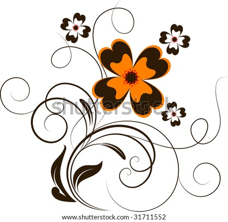 Abstract floral illustration for design.