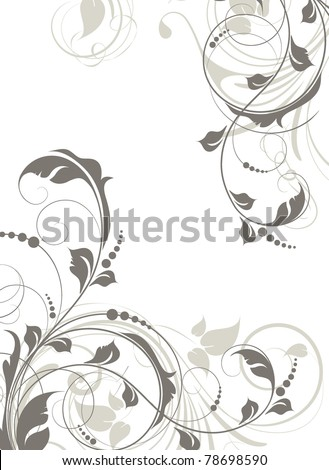 Abstract floral illustration for design. - stock vector