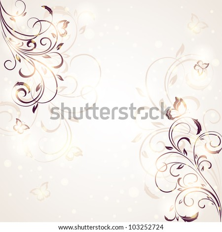 Abstract Floral ornament for decor, Illustration.Summer background - stock vector