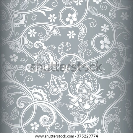 Abstract Floral Pattern - stock vector