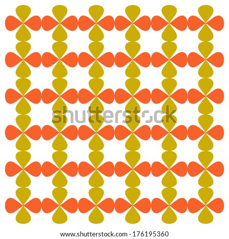 Abstract floral pattern and background - stock vector
