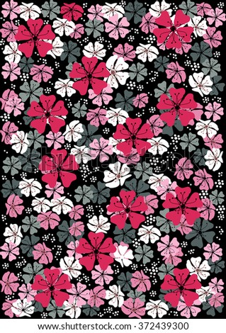 Abstract  floral pattern background - stock vector