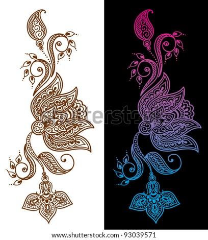 henna designs stock images royalty free images vectors shutterstock. Black Bedroom Furniture Sets. Home Design Ideas