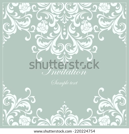 Abstract floral pattern. Vector background. Perfect for invitations or announcements. - stock vector