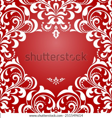 Abstract floral pattern. Vector background. Perfect for invitations or announcements. Postcard to the day of lovers. Floral ornament. - stock vector