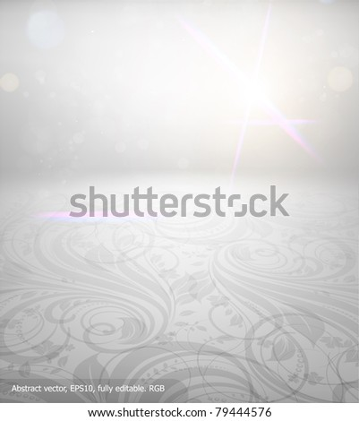 Abstract floral seamless background with free place. eps 10 - stock vector