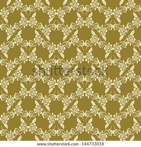 Abstract floral seamless pattern - stock vector