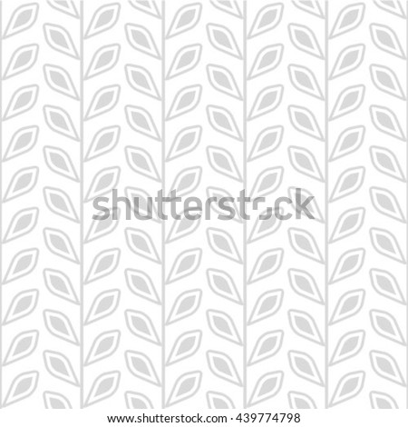 Abstract floral seamless pattern. Geometric line gray ornament. Ornamental stylish background. Abstract stripe tile texture - stock vector
