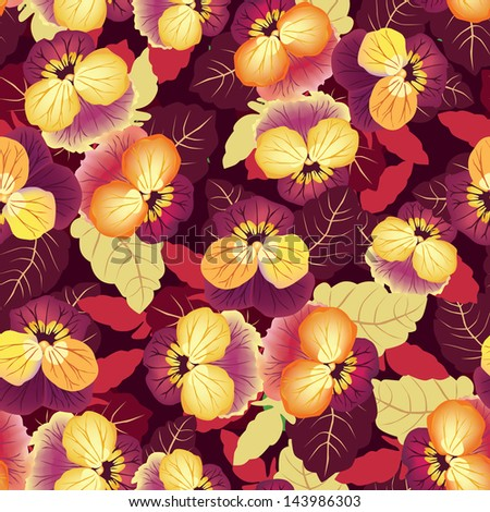 Abstract floral seamless pattern. Oriental asian lightning ornament. Flower background