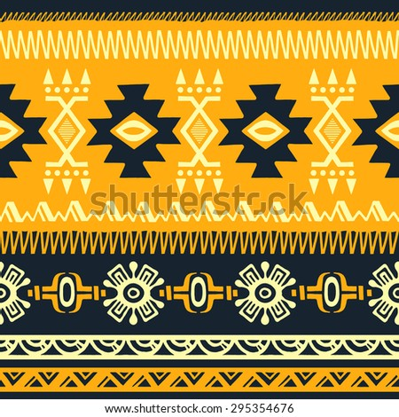 Abstract Floral Seamless Pattern. Trendy Texture. Hand Drawn Ethnic  Background. Use For Fabric
