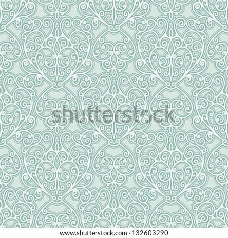 Abstract floral seamless pattern, vector decorative background - stock vector