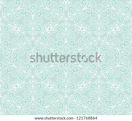 Abstract floral seamless pattern, vector illustration - stock vector