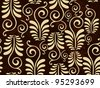 Abstract floral seamless pattern. vector illustration. Please see for more similar images in my gallery. - stock vector