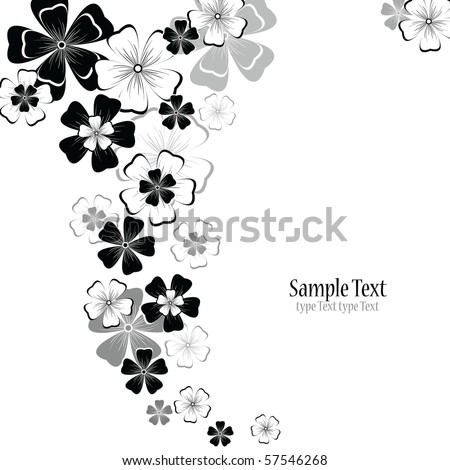 abstract floral vector background - stock vector