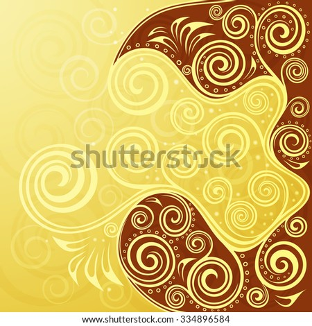 Abstract floral vector background illustration. - stock vector