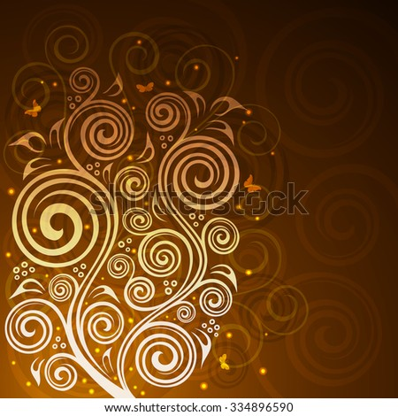 Abstract floral vector background illustration.