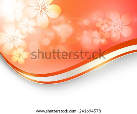 abstract floral vector background with copy space. Eps10 - stock vector
