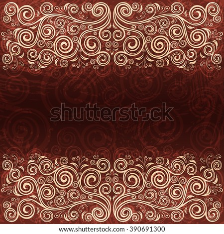 Abstract floral vintage background illustration. - stock vector