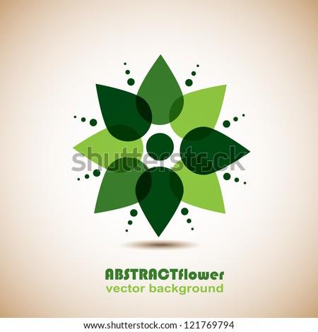 Abstract Flower Background. Element for design. Vector illustration. Logo design - stock vector