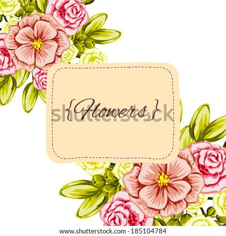 Abstract flower background with place for your text - stock vector