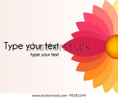 abstract flower  brochure - stock vector