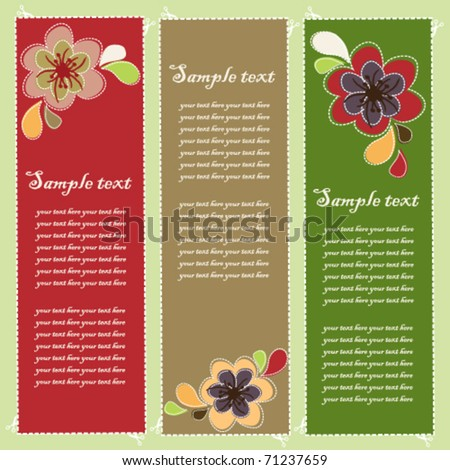 Abstract flower card vector illustration