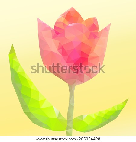 Abstract flower of triangles. Vector illustration