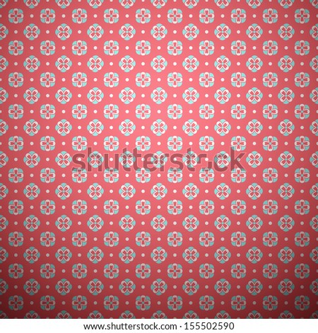 Abstract flower pattern wallpaper. Vector illustration for delicate girl and baby design. Pink, blue and white romantic colors. Seamless feminine background. - stock vector
