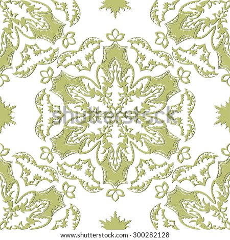 Abstract flower seamless pattern background easily editable vector image - stock vector
