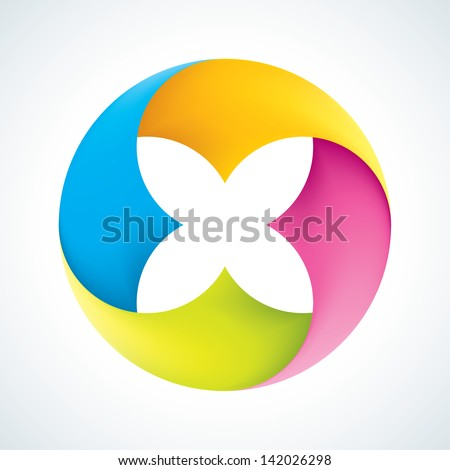 Abstract flower signs. Corporate icons. EPS10 - stock vector