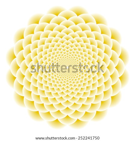 Abstract flower vector background. - stock vector