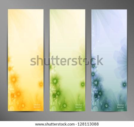 Abstract Flower Vector Background / Brochure Template / Banner. eps 10 - stock vector