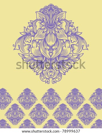 abstract flowered ornament and pattern - stock vector