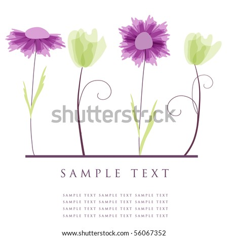 Abstract flowers - stock vector