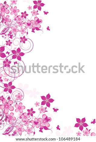 Abstract flowers background - stock vector