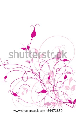 Abstract flowers background with place for your text - stock vector