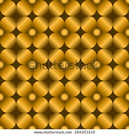 Abstract flowers seamless pattern for endless backgrounds, printings, etc...Editable vector with several layers.Eps 10 - stock vector