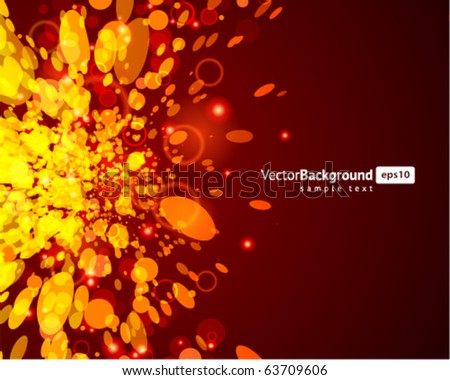 Abstract fly circle splat vector background - stock vector