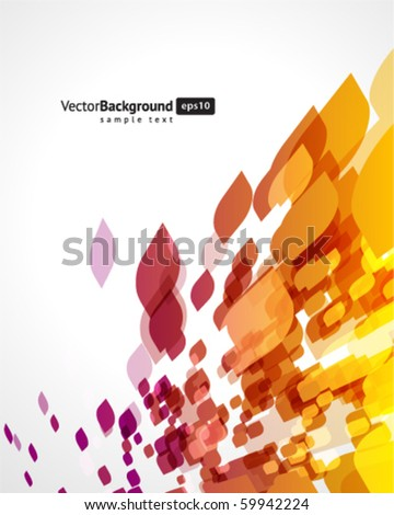 Abstract fly shapes vector background - stock vector