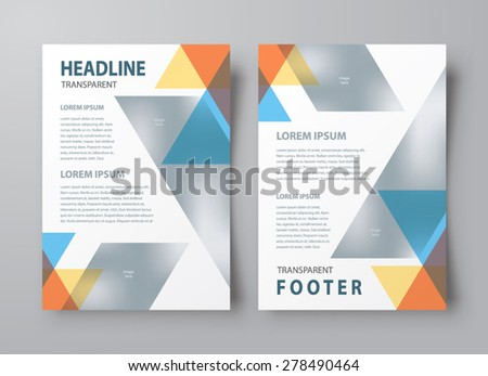 Abstract flyer brochure design template cover colored stripes - stock vector