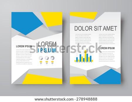 Abstract flyer brochure design template cover polygon - stock vector