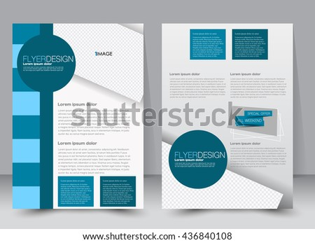 trifold business brochure template twosided template ベクター画像