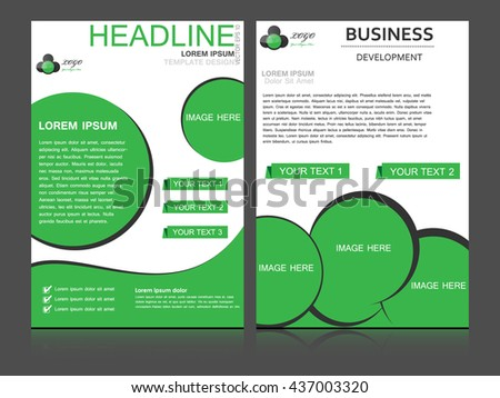 Abstract flyer design background, brochure template. Can be used for magazine cover, business, education, presentation. - stock vector