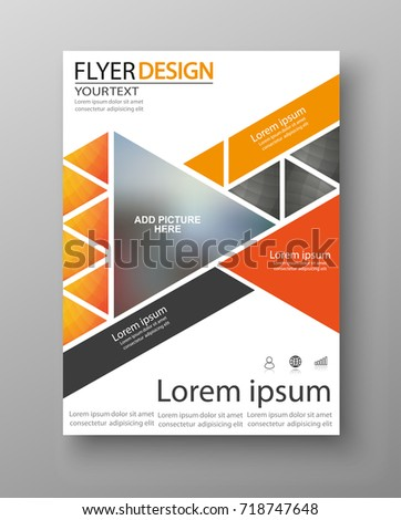 Abstract flyer design background. Brochure template. Can be used for magazine cover, business mockup, education, presentation, report. Vector eps 10.