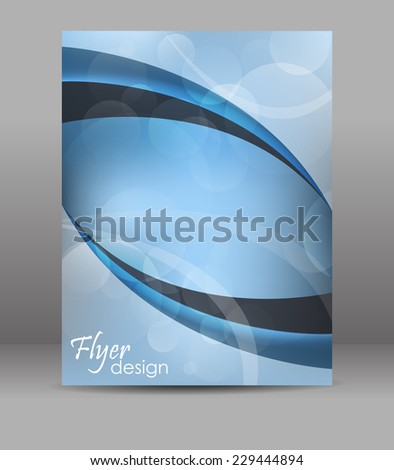 Abstract flyer or brochure template, editable vector design with place for your content or creative editing.