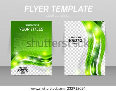 Abstract flyer template design ecology green concept - stock vector